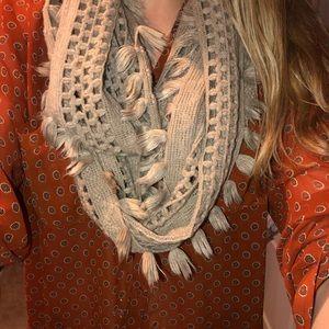 Tan cozy scarf